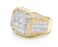 Jewelry with diamonds. Gold ring with variety of diamonds royalty free stock photography