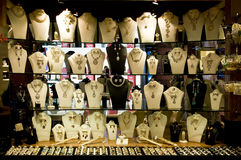 Jewelry display shop Stock Photography