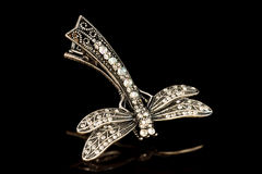 Jewelry-dragonfly brooch stock photography