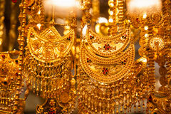 Jewelry at Dubai's Gold Souq Royalty Free Stock Photo