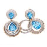 Jewelry earring isolated Stock Photo