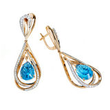 Jewelry earring isolated Royalty Free Stock Photography