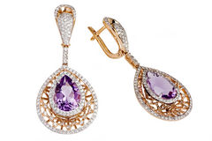 Jewelry earring isolated Royalty Free Stock Photo