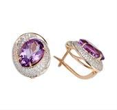 Jewelry earring isolated Stock Image