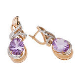 Jewelry earring isolated Royalty Free Stock Images