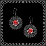 Jewelry earrings Stock Images