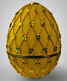 Jewelry egg. 3D render. Precious egg is made of gold. 3D render Stock Photography