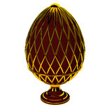 Jewelry egg. 3D render. Precious egg is made of gold isolated on a white background. 3D render Stock Photography