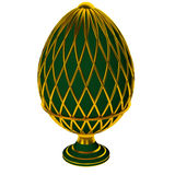 Jewelry egg. 3D render. Precious egg is made of gold isolated on a white background. 3D render Stock Image