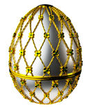 Jewelry egg. 3D render. Precious egg is made of gold isolated on a white background. 3D render Stock Images