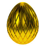 Jewelry egg. 3D render. Precious egg is made of gold isolated on a white background. 3D render Royalty Free Stock Image