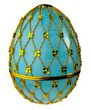 Jewelry egg. 3D render. Precious egg is made of gold isolated on a white background. 3D render Stock Photo