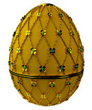 Jewelry egg. 3D render. Precious egg is made of gold isolated on a white background. 3D render Royalty Free Stock Photos
