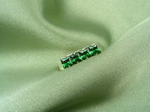 Jewelry emerald royalty free stock photography