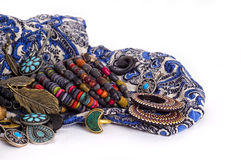 Jewelry in ethnic style Stock Photography