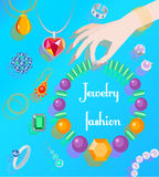 Jewelry fashion poster Royalty Free Stock Photo