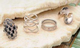Jewelry fashion rings Royalty Free Stock Images