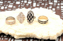 Jewelry fashion rings Stock Image