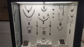 Jewelry Figures From Archeology Museum. Jewelry Figure from Edirne Archaeological and Ethnography Museum. jewelry,  historical Stock Images