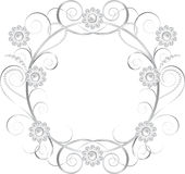 Jewelry floral frame Royalty Free Stock Photo