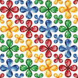 Jewelry flowers seamless texture vector. Bright floral pattern of precious stones - rubies, emeralds, sapphires and topaz on a white background. Seamless texture Stock Image