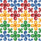 Jewelry flowers seamless texture vector. Bright floral pattern of precious stones - rubies, emeralds, sapphires and topaz on a white background. Seamless texture Stock Photos