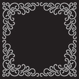 Jewelry frame. On black, decorative element for design Stock Photography