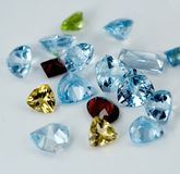 Jewelry gems. Color crystal gems for jewelry stock images
