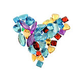 Jewelry gems - love Royalty Free Stock Photos