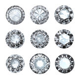 Jewelry gems roung shape Royalty Free Stock Photos