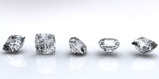 Jewelry gems shape of square Royalty Free Stock Images