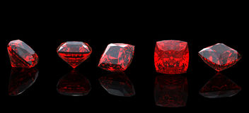 Jewelry gems shape of square. Ruby Stock Image