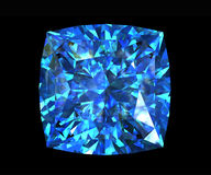 Jewelry gems shape of square. Swiss blue topaz Stock Photo