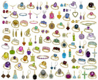Jewelry - Gemstones - Isolated Royalty Free Stock Photo