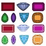 Jewelry gemstones set Stock Photos