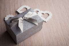 Jewelry gift box Stock Images