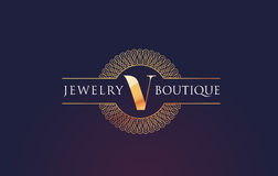 Jewelry Gold Letter Logo. Luxury Gold Logo Stock Photography