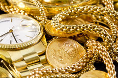 Jewelry, gold, Stock Photo