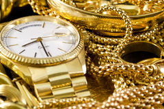 Jewelry, gold, Royalty Free Stock Photos