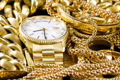 Jewelry, gold, royalty free stock images