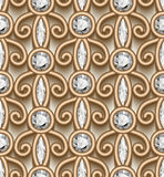 Jewelry gold ornament, diamond pattern Royalty Free Stock Photo