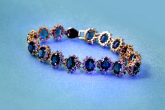 Jewelry golden bracelet stock photo