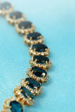 Jewelry golden bracelet royalty free stock image