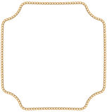 Jewelry Golden Chain of Abstract Shape Stock Photo