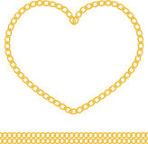 Jewelry golden chain of heart shape vector Stock Photo