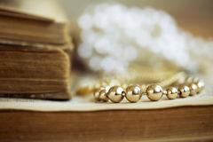 Jewelry - golden necklace Royalty Free Stock Photography