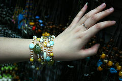 Jewelry on hand Royalty Free Stock Photography