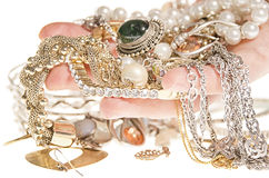 Jewelry on hand. Royalty Free Stock Photo