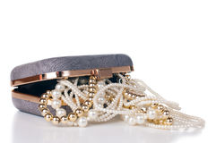 Jewelry in handbag Stock Photography