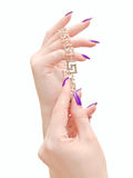 Jewelry in hands Royalty Free Stock Photo